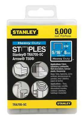 "STANLEY TRA705-5C 27/64"" x 5/16"" Heavy Duty Narrow Crown Staples, 5000 pk."