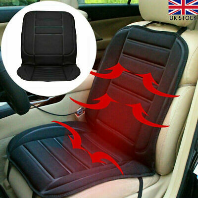 2Pcs Universal Heated Car Seat Cushion Cover Heating Heater Warmer Pad Winter