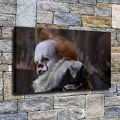 """12""""x22"""" Clown gnashing teeth HD Canvas Painting Home Decor room Wall art Picture"""