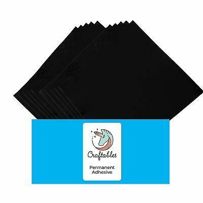 Black Vinyl Sheets - Permanent, Adhesive, Glossy & Waterproof