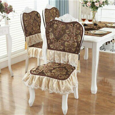 Luxury Jacquard European Style Dining Chair Cover Non-slip Home Chair Seat Cover