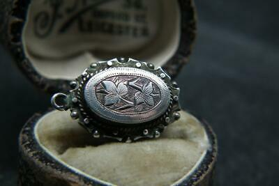 Lovely Antique Victorian Aesthetic Engraved Silver Pendant/Charm/Fob