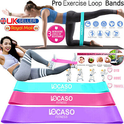Fitness Exercise Resistance Loop Bands Elastic Band Home Workout Yoga Pilates UK