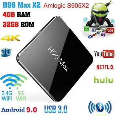 New S905x2 Quad Core Android 9.0 Smart TV Box 4+32GB HDMI WIFI 4K Media Streamer