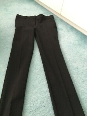 Two pairs of Girls Black School Trousers from Marks & Spencer - Age 9-10 years