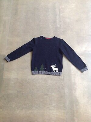 The Little white company Boys Christmas Jumper - Aged 5-6 Years