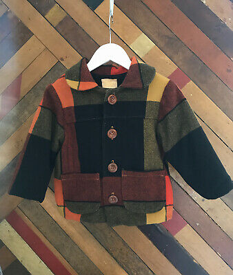 What Mother Made Wool Winter Jacket With Wool Lining, 2-4 Yrs, Made In UK