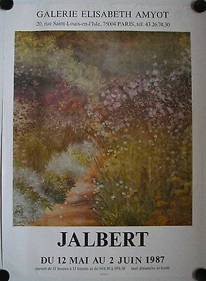 Affiche JALBERT 1987 Exposition Galerie Elisabeth Amyot