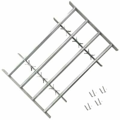 vidaXL Adjustable Security Grille for Windows with 4 Crossbars 500-650mm Safe#