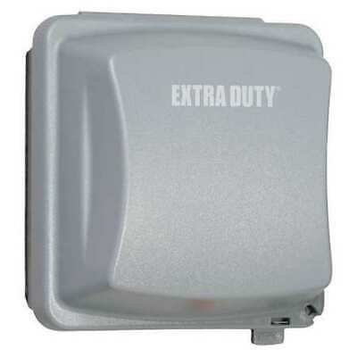 """RACO MM2420G While In Use Cover,2-3/4"""" D,2 Gangs,Gray"""