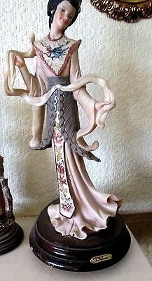 Vintage c1950`s Large Statuette on Wooden Base Made in Italy signed M Balcari
