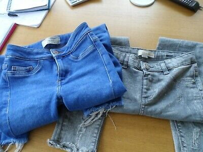 Girls 2 pairs jeans size 10 years