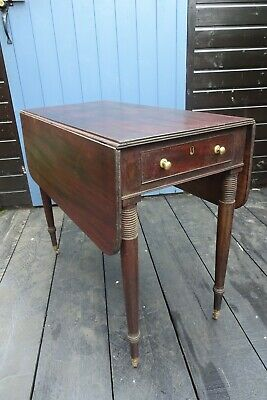 Elegant Georgian/Victorian mahogany Drop Leaf Small Table with casters