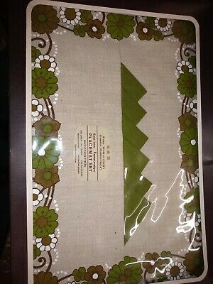 Vintage Irish linen mills LEASURELYN Placemat set new in box