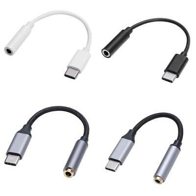 CableDeconn Type-C Male to 3.5mm Female AUX Converter Cord for Type-C Phone h9