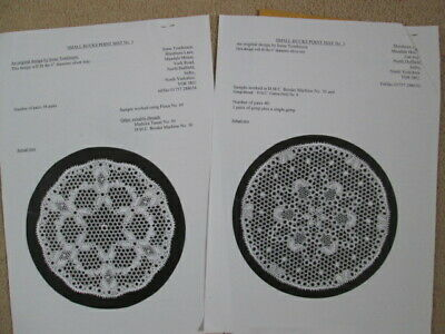 New Bucks Point Lace Making Patterns, Pricking & Instructions