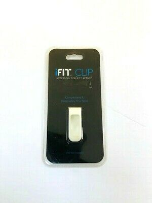 iFIT CLIP WHITE COLOR  FITS iFIT ACTIVE FITNESS TRACKER pod free shipping
