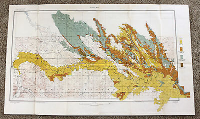1907 South Dakota Bellefourche Map Original Dept Agriculture Soil Survey Color