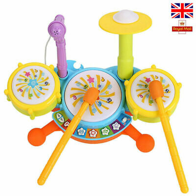 Baby Musical Drum Set Toys Kids Jazz Drum Kit Electronic Percussion Musical toys