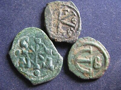 3 Genuine Ancient Byzantine Bronze Coins,Unresearched,All Have Some Great Detail