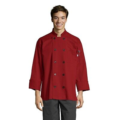 Moroccan Chef Jacket, White, Red, Burgundy, XS to 3XL, 0405