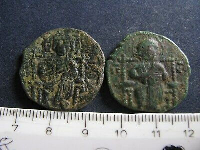 2 Genuine Ancient Byzantine Bronze Coins,Unresearched,Some Great Detail