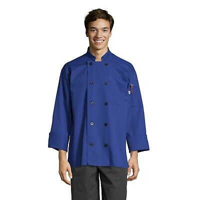 Moroccan Chef Jacket, long sleeve, Royal, XS to 3XL, 0405