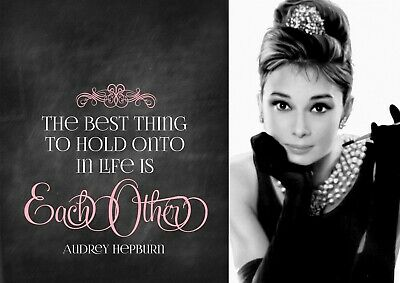 Iconic Audrey Hepburn with Famous I/'m Possible Quote Poster Wall Art Prints