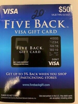 $50 Gift Card. Free Shipping! Activated. 5% Cashback!! No Additional Fees!!!