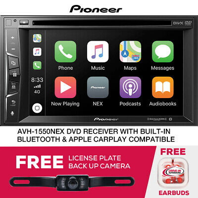 Pioneer AVH-1550NEX Limited DVD Receiver Apple CarPlay Free License Plate Camera