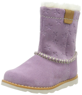 Clarks Girls' Crown Piper T Slouch Boots, Multicolour Lilac Suede Lilac Suede, 7
