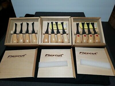 Flexcut Skew Gouge Sup Wide Palm Set Carving Knife Tools  Woodworking