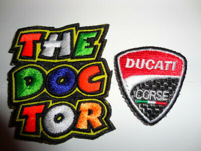 Valentino Rossi VR46 + Ducati Corse Sew On Patches Official The Doctor