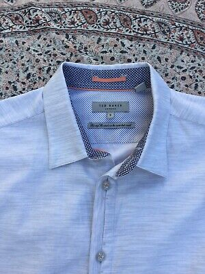 TED BAKER - Marl - Cotton - Button Cuff - ANNISY - Shirt - Size 5