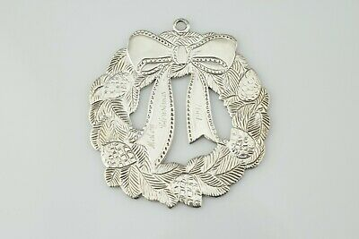Tiffany & Co Makers Sterling Silver Holiday Christmas Tree Wreath Ornament