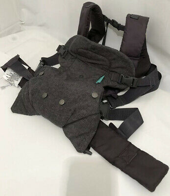 Infantino Flip Advanced 4-in-1 Convertible Carrier, Light Grey With Teal Bib