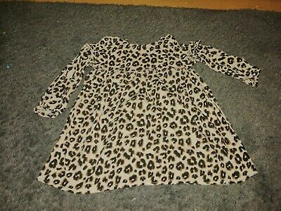 Baby Girls Next Age 2-3 Years Leopard Print Dress