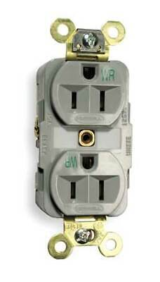 HUBBELL WIRING DEVICE-KELLEMS DR20BLK 20A Duplex Decorator Receptacle 125VAC