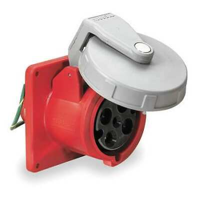 HUBBELL WIRING DEVICE-KELLEMS HBL460R7W IEC Pin and Sleeve Receptacle,60A,480V