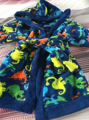 Baby Boys Dinosaur Dressing Gown Age 6/9 Months