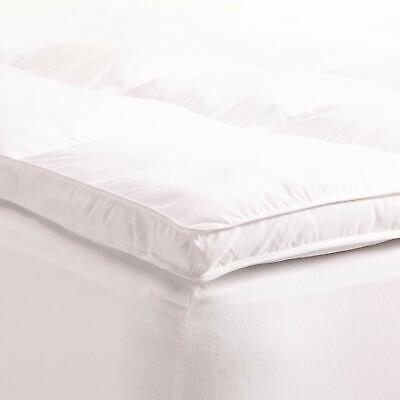 "2"" Thick Mattress Topper Down Alternative Featherbed Pad Overfilled KING"