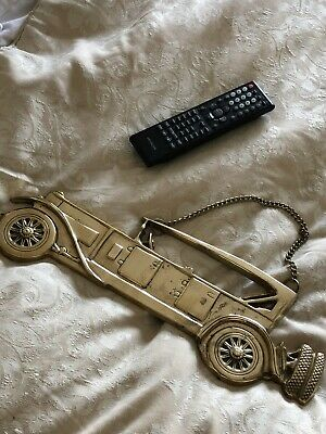 Heavy Solid Brass Vintage Car Wall Hanging