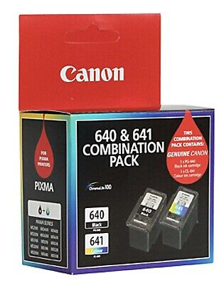 Canon PG-640 & CL-641 Black/Tri-Color Ink Cartridge - Twin Pack