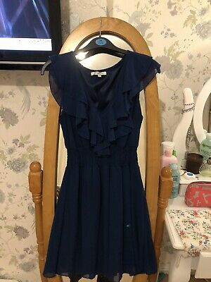 new look party dress size 8 Navy Blue In Great Condition