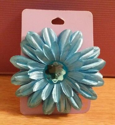 BNWT Claire's Accessories Blue Jewelled Flower Hair Clip