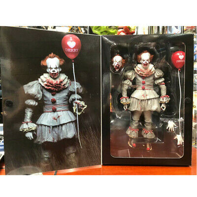 "NECA IT Bloody Version Pennywise Clown Action Figure Movie Doll New 7"" Scale Toy"