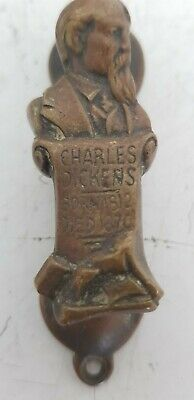 Antique Cast Brass Charles Dickens Door Knocker