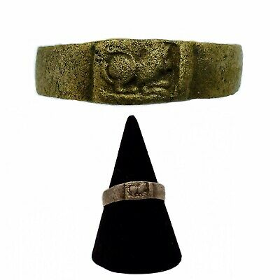 EARLY MEDIEVAL 11th CENTURY BRONZE CRUSADERS RING
