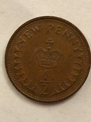1/2 New Penny. Half Pence, Genuine Decimal Coin. Genuine UK Coin.