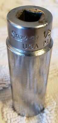 "SNAP ON  STM16  DEEP SOCKET 1/4"" drive, 1/2""  6 POINT SNAPON  USA STM 16"